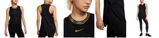 Nike Women's Glam Metallic-Logo Racerback Tank Top