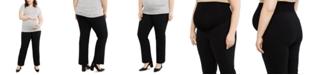 Motherhood Maternity Plus Size Petite Straight-Leg Pants