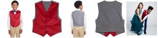 Tommy Hilfiger Big Boys Classic-Fit Velvet Suit Vest