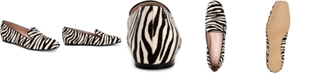 Calvin Klein Women's Hanna Zebra-Print Calf-Hair Flats