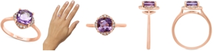 EFFY Collection EFFY® Amethyst (1-1/3 ct. t.w.) & Diamond (1/10 ct. t.w.) Ring in 14k Rose Gold