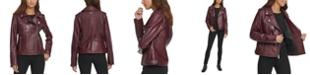 DKNY Leather Moto Jacket