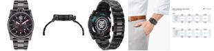 CT Scuderia Men's Swiss Chronograph Carbon Fiber Black Stainless Steel Bracelet Watch 44mm
