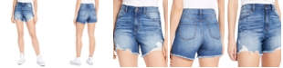 Rewash Juniors' Super-High-Rise Distressed Denim Shorts