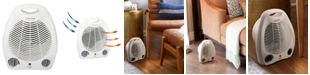 VieAir Vie Air 1500W Portable 2-Settings White Office Fan Heater with Adjustable Thermostat