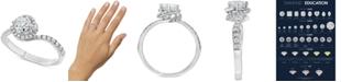 Macy's Diamond Swirl Engagement Ring (1 ct. t.w.) in 14k White Gold