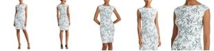 Lauren Ralph Lauren Petite Ruched Boatneck Dress