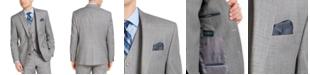 Lauren Ralph Lauren Men's Classic-Fit UltraFlex Stretch Light Gray Sharkskin Suit Jacket