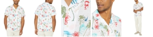 Nautica Men's Blue Sail Collection Tropical Print Short Sleeve Shirt, Created For Macy's