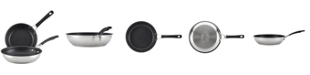 """Circulon Innovatum Stainless Steel Nonstick 8.5"""" and 10"""" French Skillet Set"""