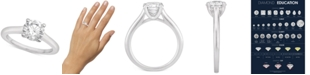 Macy's Certified Diamond Solitaire Engagement Ring (1-1/2 ct. t.w.) in 14k White Gold