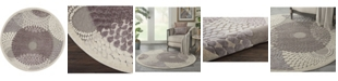 """Long Street Looms Chimeras CHI04 Gray 5'3"""" Round Area Rug"""