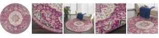 "Long Street Looms Zeal ZEA22 Pink 5'3"" Round Area Rug"