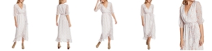 1.STATE Woodland Floral-Print Wrap Maxi Dress