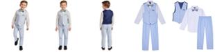 Nautica Little Boys 4-Pc. Blue Oxford Vest Set