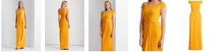 Lauren Ralph Lauren Cap-Sleeve Crepe Gown