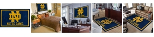 """Luxury Sports Rugs Notre Dame Colnd Blue 5' x 7'6"""" Area Rug"""