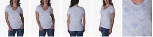 Ultra Flirt Juniors' V-Neck Tie-Dyed T-Shirt