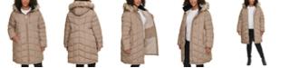 Calvin Klein Plus Size Faux-Fur Trim Hooded Puffer Coat