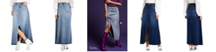 INC International Concepts INC Cotton Denim Maxi Skirt, Created for Macy's