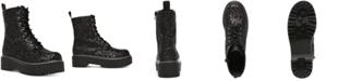 Wild Pair Rizo Lug Sole Combat Booties, Created for Macy's