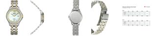 Seiko Women's Solar Two-Tone Stainless Steel Bracelet Watch 29mm SUT312
