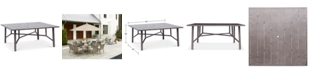 """Furniture Wayland Aluminum 64"""" Square Outdoor Dining Table, Created for Macy's"""