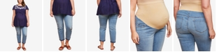Jessica Simpson Maternity Plus Size Destructed Skinny Ankle Jeans