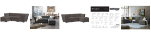 Furniture CLOSEOUT! Roxanne Fabric 3-Piece Modular Sectional Sofa, Created for Macy's
