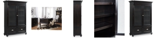 Furniture Clinton Hill Ebony Home Office Door Bookcase, Created for Macy's