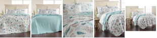 Martha Stewart Collection CLOSEOUT! Beach Finds Reversible  100% Cotton Full/Queen Quilt, Created for Macy's