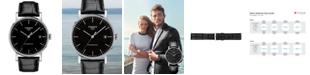 Tissot Men's Swiss Automatic Everytime Swissmatic Black Leather Strap Watch 40mm