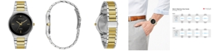 Caravelle  Men's Diamond-Accent Two-Tone Stainless Steel Bracelet Watch 40mm