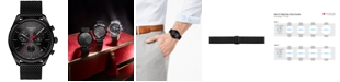 Tissot Men's Swiss Chronograph T-Classic PR 100 Black PVD Stainless Steel Mesh Bracelet Watch 41mm