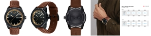 Movado Men's Swiss BOLD Sport Brown Leather Strap Watch 43mm