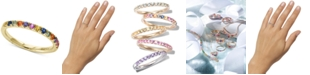 EFFY Collection Watercolors by EFFY® Multi-Sapphire Band (5/8 ct. t.w.) in 14k Gold