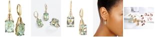 Le Vian Mint Julep Quartz (12-3/8 ct. t.w.) & Diamond (3/8 ct. t.w.) Drop Earrings in 14k Gold