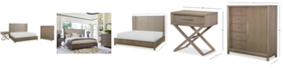Furniture Rachael Ray Highline Bedroom Furniture, 3-Pc. Set (Upholstered Shelter California King Bed, Door Chest & Bedside Chest/Nightstand)