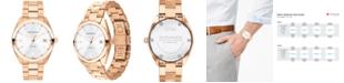 Movado Men's Swiss Heritage Series Datron Rose Gold-Tone Stainless Steel Bracelet Watch 39mm