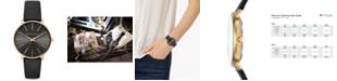 Michael Kors Women's Pyper Black Leather Strap Watch 38mm