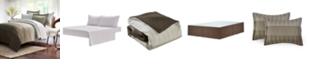Brown & Grey Ombre Stripe 8-Piece Bed-In-Bag, Queen