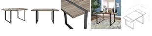 "Walker Edison 60"" Urban Blend Wood Dining Table - Driftwood"