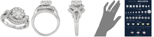 Macy's Diamond Cluster Engagement Ring (1-1/5 ct. t.w.) in 14k White Gold
