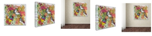 """Trademark Global Oxana Ziaka 'Exotic Birds' Canvas Art - 14"""" x 14"""" x 2"""""""