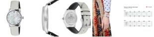 Gucci Women's Swiss G-Timeless Diamond-Accent White Lizard Leather Strap Watch 29mm
