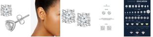 TruMiracle Diamond Stud Earrings (1/2 ct. t.w.) in 14k White Gold