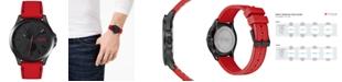 HUGO Men's #Jump Red Rubber Strap Watch 41mm