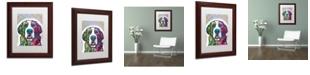 """Trademark Global Dean Russo 'Saint Bernard' Matted Framed Art - 11"""" x 14"""""""