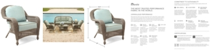 Furniture Sandy Cove Wicker Outdoor Club Chair, Created for Macy's