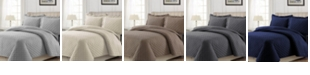 Tribeca Living Cotton Flannel Solid Oversized Quilt Set Collection